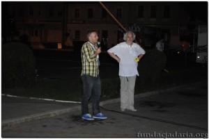 """Zbigniew Masternak-pisarz,scenarzysta i Andrzej Buck przed projekcją filmu""""Księstwo"""""""
