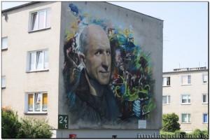 Wspaniałe dzieło na jednym z budynków w Kargowej