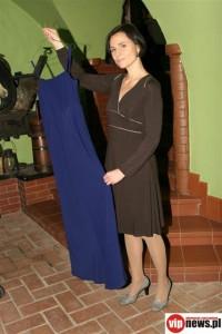 Dorota Landowska i sukienka